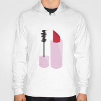 lipstick Hoodies featuring Lipstick by TofuCurtains