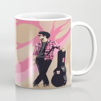 darren criss Mugs featuring Darren by Miki Price