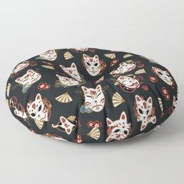 Kitsune Mood Masks Floor Pillow