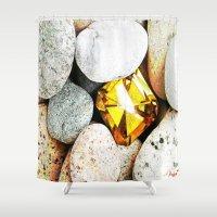 gem Shower Curtains featuring hidden gem by arnedayan