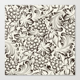 Vine seamless background Canvas Print