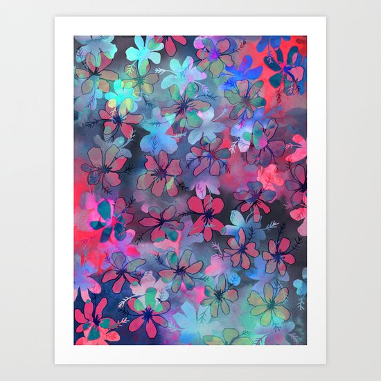 PATTERN {flower dance} Art Print