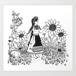 The Warmth of South Art Print