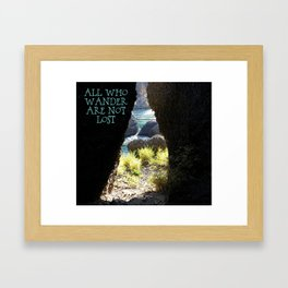 All Who Wander Framed Art Print