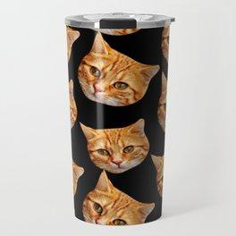 cute black and orange cat pattern Travel Mug