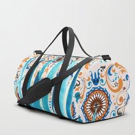Cactus and Moroccan tiles Duffle Bag
