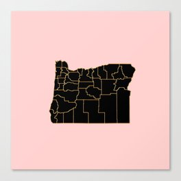 Oregon map Canvas Print