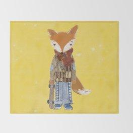 Fox Boy Throw Blanket
