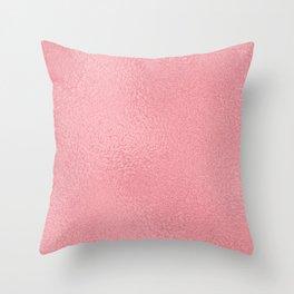 Simply Metallic in Pink Rose Gold Throw Pillow