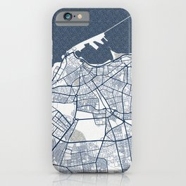 Tripoli City Map of Libya - Coastal iPhone Case