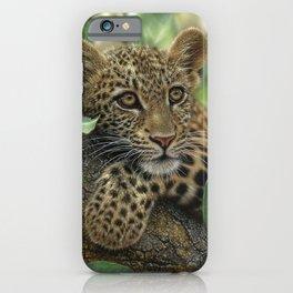 Leopard Cub - Tree Hugger iPhone Case