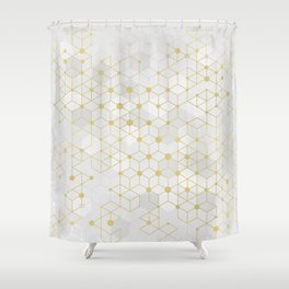 Deluxe Geometric Shower Curtain