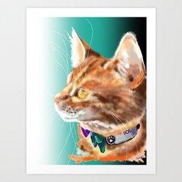 Poe the Cat Art Print