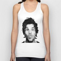 louis tomlinson Tank Tops featuring Louis Tomlinson - One Direction by jrrrdan