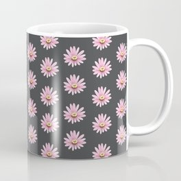 Modern gray blush pink girly daisies floral pattern Coffee Mug
