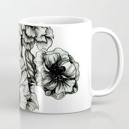 Black Flowers Coffee Mugs   Society6