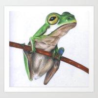 Tree Frog Waiting Art Print