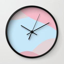 Petrichor soft pink and light blue Wall Clock
