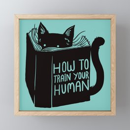 Cat Reader Advice Framed Mini Art Print