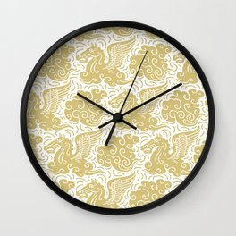 Pegasus Pattern Gold Wall Clock