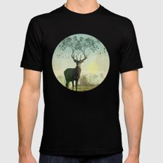 Evergreen Stage Horn Black SMALL Mens Fitted Tee