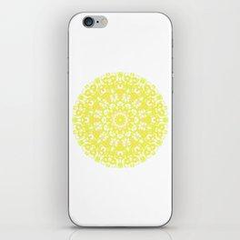 Mandala 12 / 1 eden spirit yellow white iPhone Skin