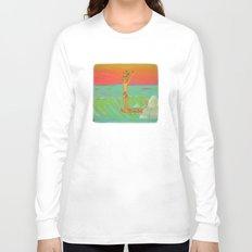 Hang 10 Retro Surf Dude Longboard Surf Long Sleeve T-shirt