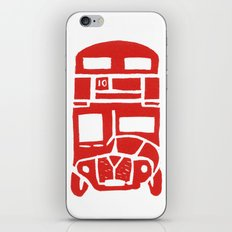 Red bus in London iPhone & iPod Skin