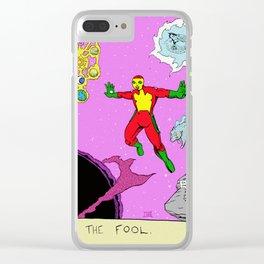 Tarot Card Zero: The Fool Clear iPhone Case
