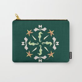 Seahorse Mandala - Watercolor Carry-All Pouch