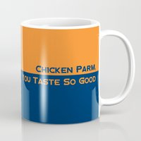 nfl Mugs featuring Chicken Parm You Taste So Good by Cussing Cups