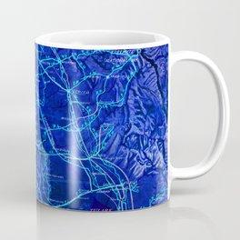 Blue California map, 1894. Coffee Mug