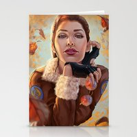 tomb raider Stationery Cards featuring Tomb Raider: Bomber Jacket by LaraRobsGraves