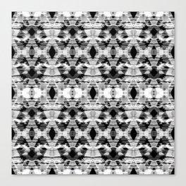 Gray ethnic ornament Canvas Print