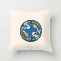 mandala Throw Pillows featuring Mandala by Abundance