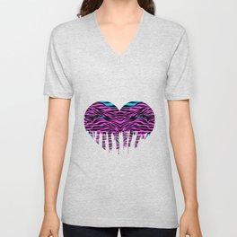 Stripes heart two Unisex V-Neck