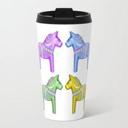Dala Horses Travel Mug