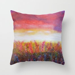 Wildflower Daze Throw Pillow
