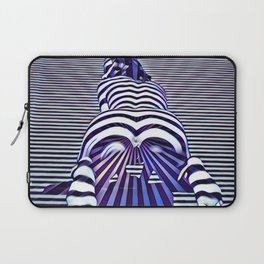 2519s-JPC Blue Striped Nude Woman From Behind Laptop Sleeve