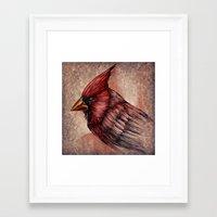 cardinal Framed Art Prints featuring Cardinal by Werk of Art