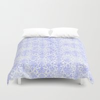 damask Duvet Covers featuring Periwinkle Damask by SimplyChic