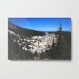 Bumpass Hell Pass Lassen Volcanic National Park Metal Print