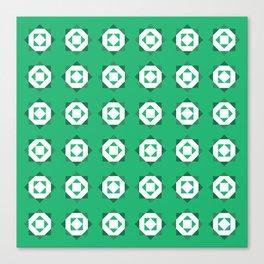 Maroccan Green Stars Canvas Print