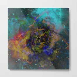 Evolving Space - Abstract, outer space painting Metal Print