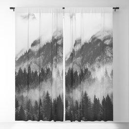 Vancouver Fog B&W Blackout Curtain