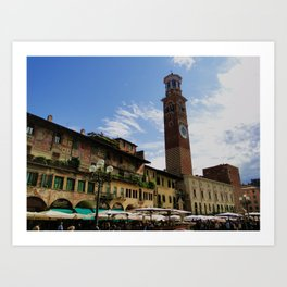 Goodbye Piazza Erbe Art Print