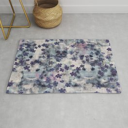 Night Blossom All Over Floral Print Rug