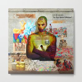 "CITY OF COLORS ""The Alien Nation Collection"" Metal Print"