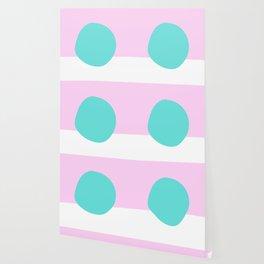Pink and Mint Scandi Dot Wallpaper
