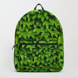 Green Leafy Wall Backpack